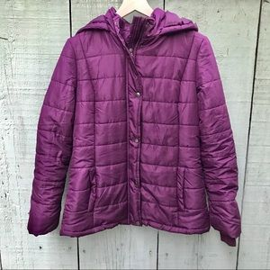 Purple down coat